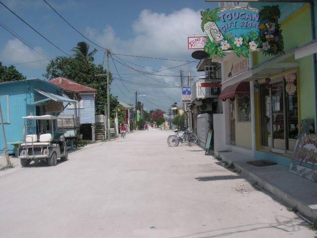 Hauptstraße auf Caye Caulker