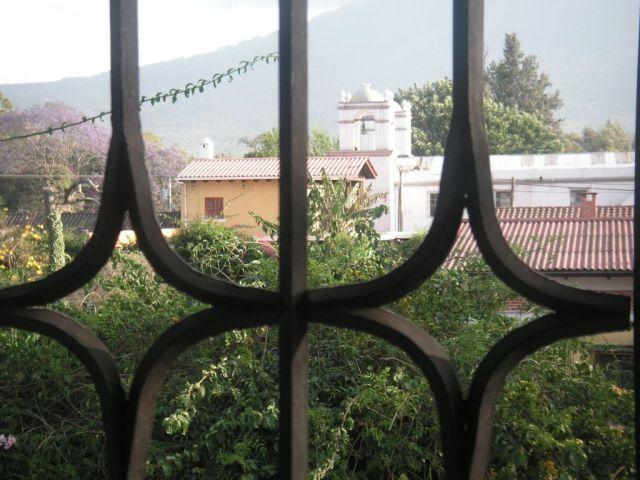 Ausblick vom Hostel in Antigua