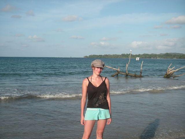 Sarah auf Bocas del Toro