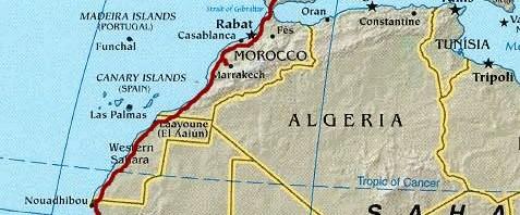 Mit dem Auto nach Westafrika, Reiseroute