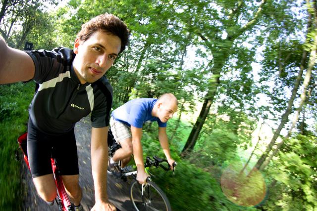 Ein Fahrradweg in Belgien