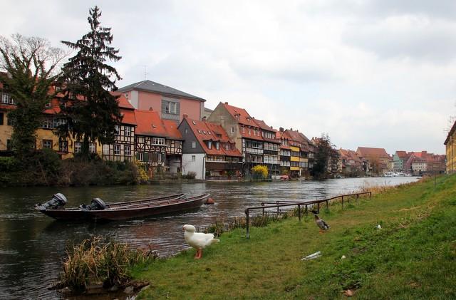 Blick auf die Inselstadt in Bamberg