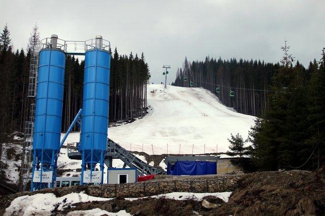 Das rumänische Skigebiet - bestehend aus einem Lift
