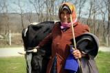 Eine türkische Bäuerin auf dem Land.