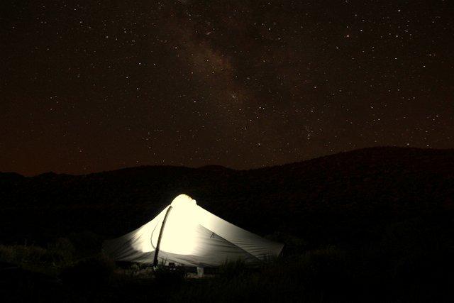 Zelten unterm Sternenhimmel.