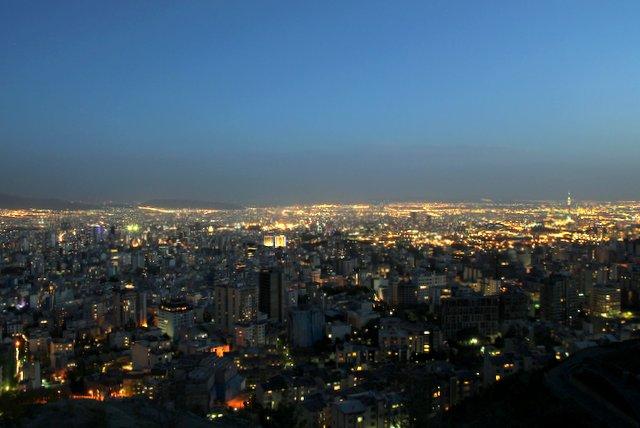 Teheran bei Nacht.