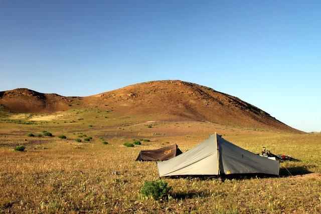 Ein idyllischer Zeltplatz, zumindest noch.
