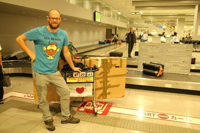 Ankunft am Flughafen in Osaka