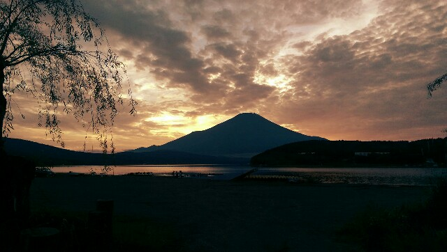 Sonnenuntergang am Fuji