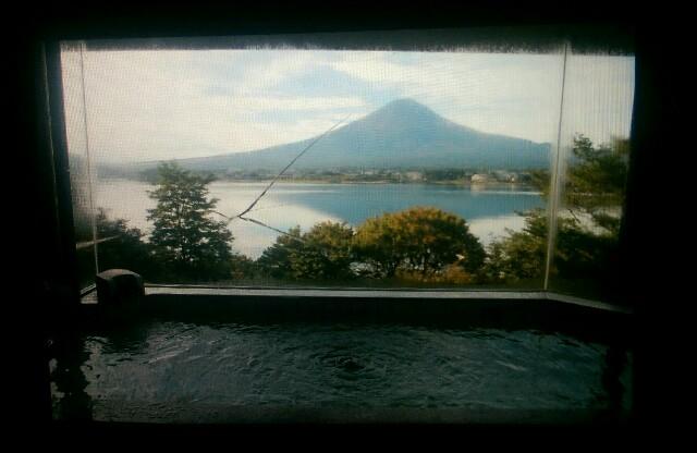 Fuji-Ausblick im Onsen