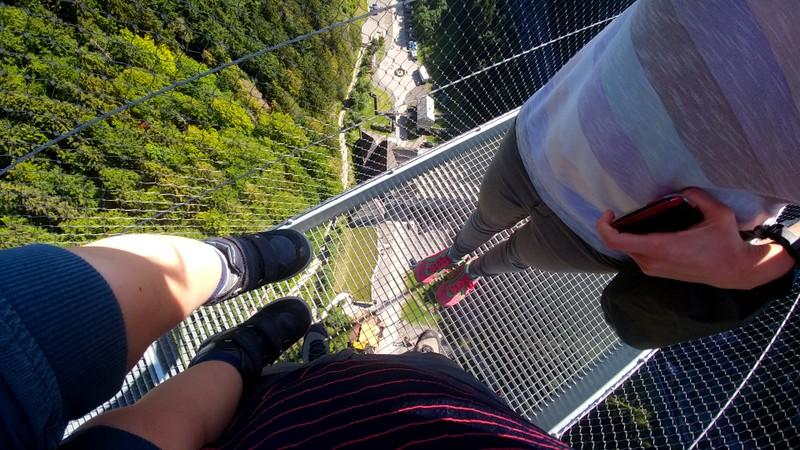 Weiche Knie auf der highline179.