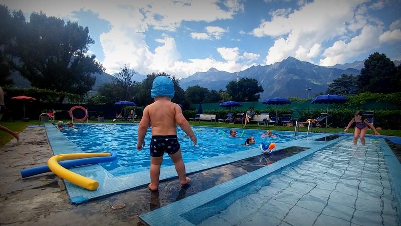 Campingplatz mit Schwimmbad in Meran
