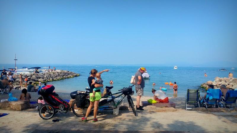 Ein letzter Blick auf den Gardasee